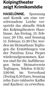 Meppener Tagespost 09.02.2015