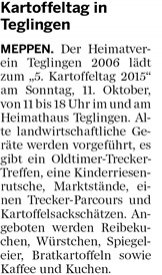 Meppener Tagespost 25.09.2015