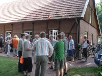 Ankunft Dorfgemeinschaftshaus Borken