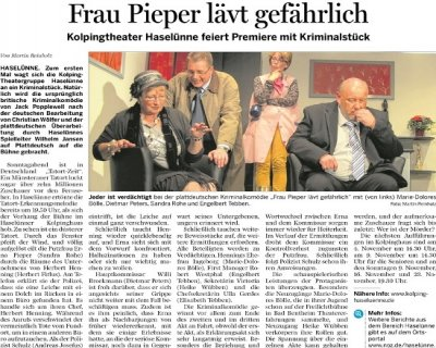 Meppener Tagespost 29.10.2014